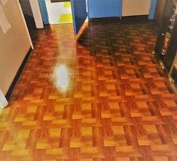 tile floor buffed
